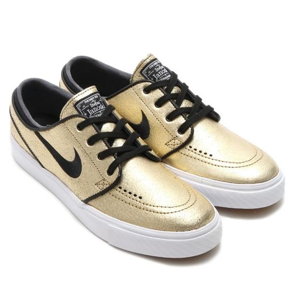 sports shoes 3dbec e5867 NIKE SB Stefan Janoski L Leather Gold 616490-702
